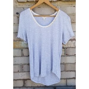 J. Crew Gray and with White Silky Neckline